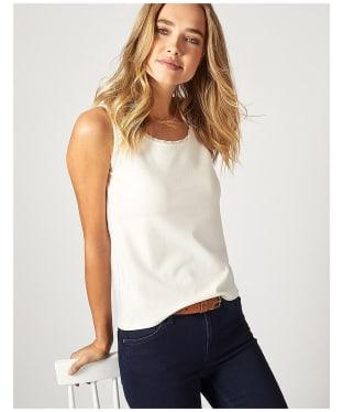 Women's Crew Clothing Chiffon Trim Vest Top - White Linen