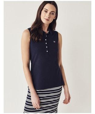 Women's Crew Clothing Sleeveless Polo Shirt - Navy