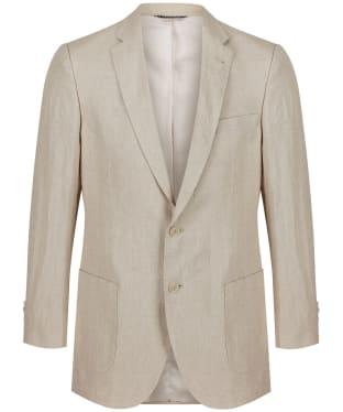 Men's Schoffel Linen Blazer - Stone
