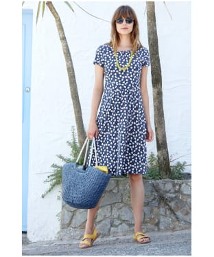 Women's Seasalt Carnmoggas Dress - Tulip Geo Marine