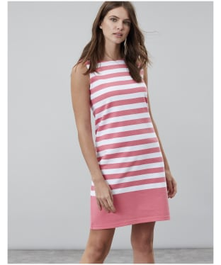 Women's Joules Riva Dress - Pink / White Stripe
