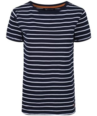 Women's Crew Clothing Breton Top - Navy / White