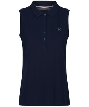 Women's Crew Clothing Sleeveless Polo Shirt - Navy