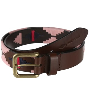 pampeano Leather Polo Belt - Rosa