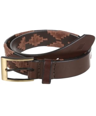 pampeano Leather Polo Belt - Habano
