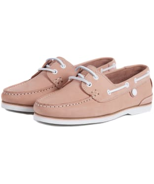 Women's Barbour Bowline Boat Shoes - Blush