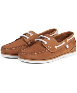 Women's Barbour Bowline Boat Shoes - Tan