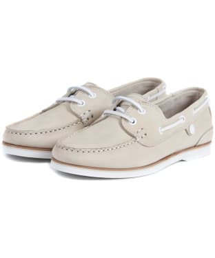 Women's Barbour Bowline Boat Shoes - Oyster