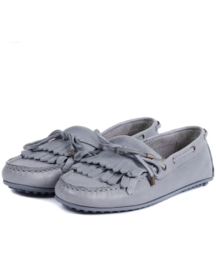 Women's Barbour Carmen Nubuck Loafers - Grey