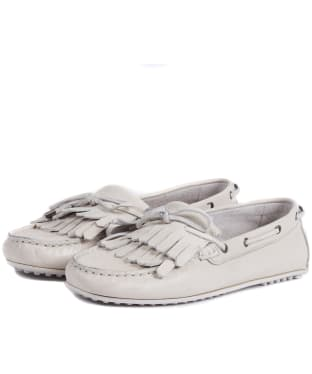 Women's Barbour Carmen Leather Loafers - Oyster