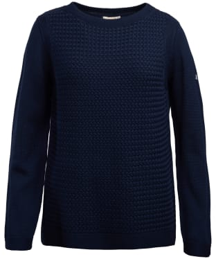Women's Barbour Shoreline Knitted Sweater - Navy