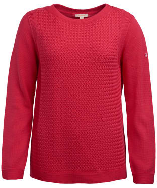 Women's Barbour Shoreline Knitted Sweater - Lobster