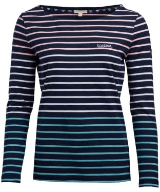 Women's Barbour Slipway Top - Navy Multi Stripe