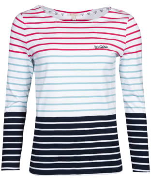 Women's Barbour Slipway Top - White Multi Stripe