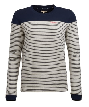 Women's Barbour Starboard Overlayer Knitted Sweater - Navy / Ice White
