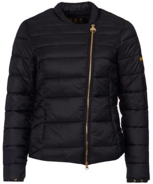 Women's Barbour International Cortina Quilt Jacket - Black