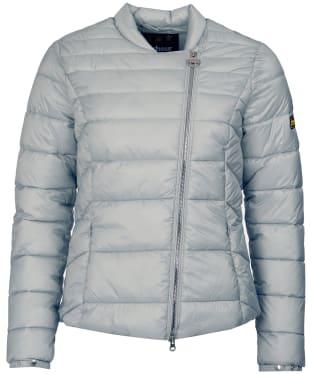 Women's Barbour International Cortina Quilt Jacket - Ice White