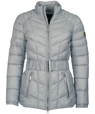 Women's Barbour International Morzine Quilted Jacket - Ice White