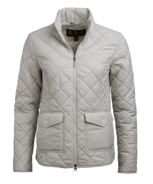Women's Barbour Helm Quilted Jacket - Ice White