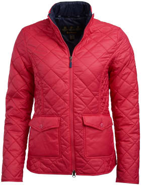 Women's Barbour Helm Quilted Jacket - Lobster