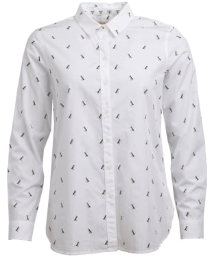 Women's Barbour Helm Shirt - White