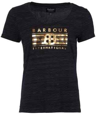Women's Barbour International Meribel Tee - Anthracite Marl
