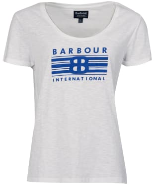 Women's Barbour International Meribel Tee - White