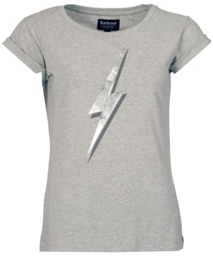 Women's Barbour International Verbier Tee - Light Grey Marl