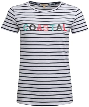 Women's Barbour Skysail Tee - White / Navy