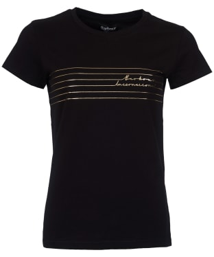 Women's Barbour International Cortina Tee - Black