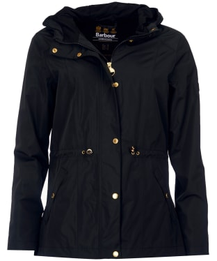 Women's Barbour International Val Thoren Waterproof Jacket - Black