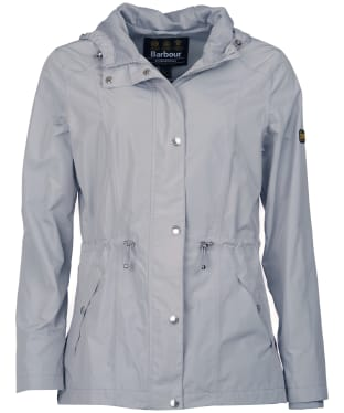Women's Barbour International Val Thoren Waterproof Jacket - Ice White