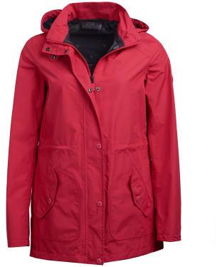 Women's Barbour Groundwater Waterproof Jacket - Lobster