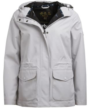 Women's Barbour Overseas Waterproof Jacket - Ice White