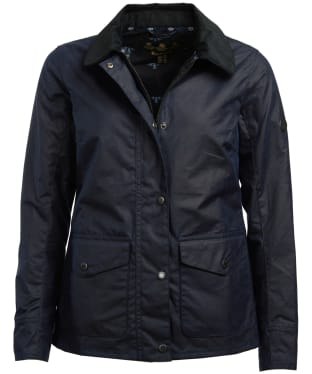 Women's Barbour Shoreline Wax Jacket - Royal Navy