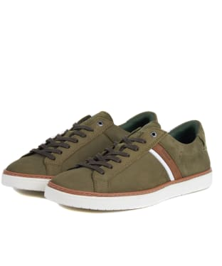 Men's Barbour Arrow Trainers - Light Olive