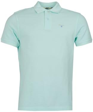 Men's Barbour Tartan Pique Polo Shirt - Pale Mint