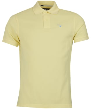 Men's Barbour Tartan Pique Polo Shirt - Lemon Zest