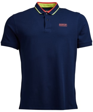 Men's Barbour International Shift Polo Shirt - Medieval Blue