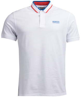 Men's Barbour International Shift Polo Shirt - White