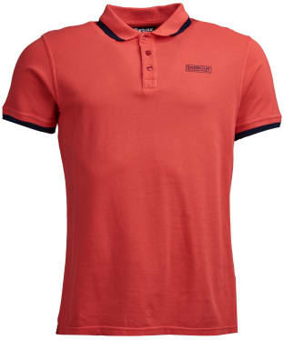 Men's Barbour International Pigment Polo Shirt - Rich Red