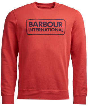 Men's Barbour International Kit Pigment Crew Sweatshirt - Racing Red