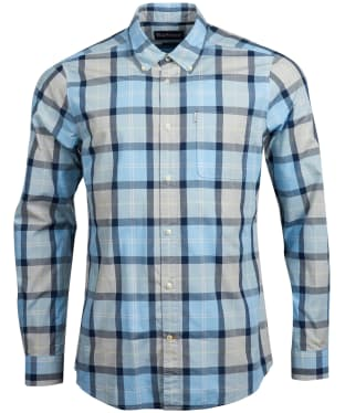 Men's Barbour Burnside Shirt - Ocean Blue