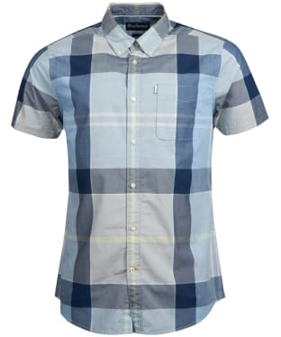 Men's Barbour Croft Short Sleeved Shirt - Ocean Blue
