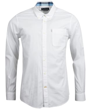 Men's Barbour Heatherbank Shirt - White