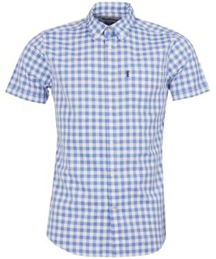 Men's Barbour Gingham Short Sleeved Tailored Shirt - Lemon Zest