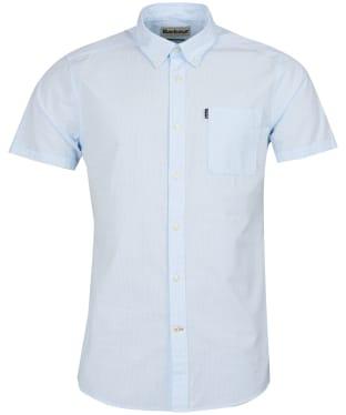Men's Barbour Stripe 4 Short Sleeved Tailored Shirt - Blue