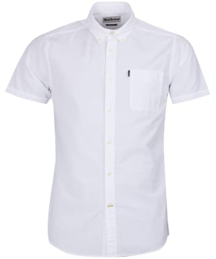 Men's Barbour Stripe 4 Short Sleeved Tailored Shirt - White