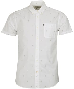 Men's Barbour Print 3 Tailored Fit Shirt - White