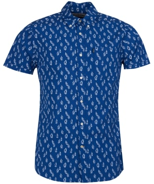 Men's Barbour Print 1 Tailored Fit Shirt - Navy